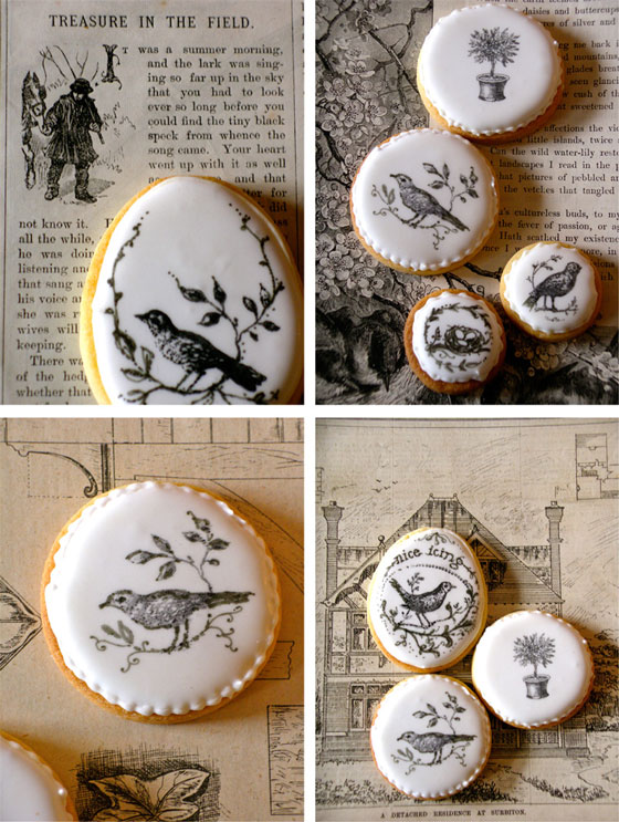 rubber stamp cookies