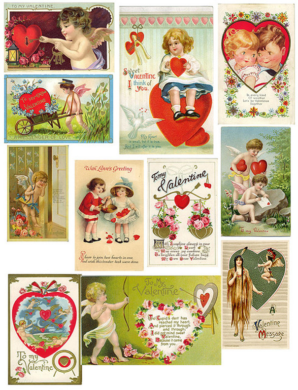picture relating to Free Vintage Printable titled Joyful Valentines Working day! (Absolutely free Common Printables