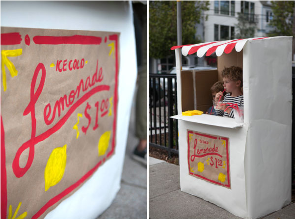 Diy Friday Cardboard Lemonade Stand 187 Bellissima Kids