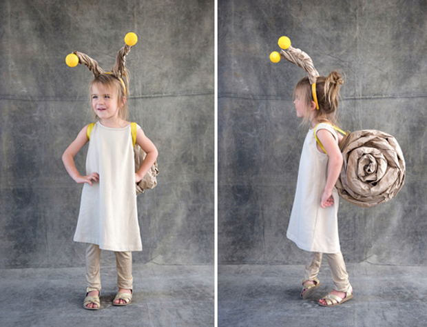 diy_snail_costume_halloween - Coolest Kids Halloween Costumes