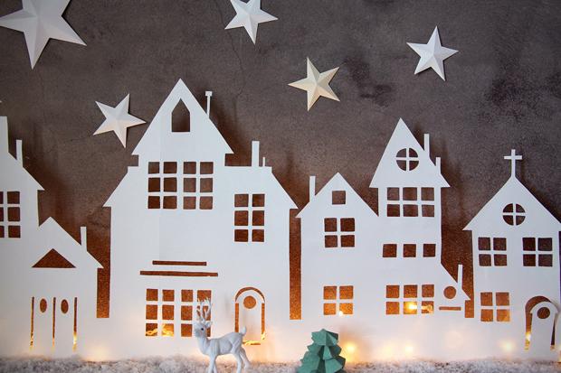 Illuminated Christmas Village Cutout » Bellissima Kids Bellissima Kids