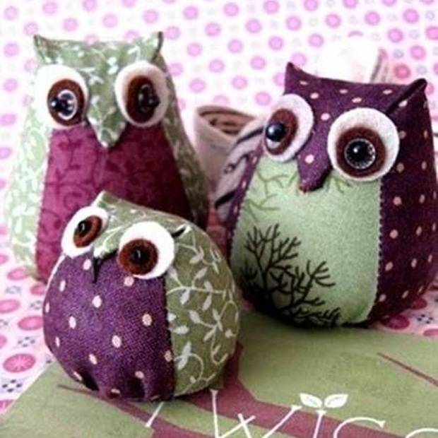 Adorable and Easy DIY Fabric Owls