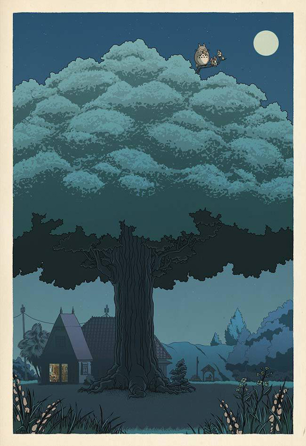 If-Studio-Ghibli-film-posters-were-made-as-traditional-Japanese-wood-cut-prints-2